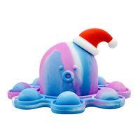 재미있는 fidget 장난감 파티 무지개 화가 낙지 플립 인형 실리콘 스트레스 릴리프 펜던트 키 체인 선물 도매