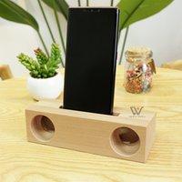 Держатели деревянного телефона для телефона звук усилитель динамик универсальный кронштейн бамбуковых док-станции стола держатель держатель для iPhone