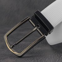 Belts High Quality Casual Black Pin Buckle Designer Men Fashion Genuine Leather White Waist Stap Jeans Waistband