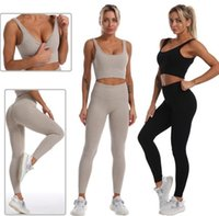 Womens Yoga wear Suit Tech fleece Sport track pants Leggings Tracksuits t shirts ceop top legging Fitness Gym outfits Designer Clothes sportwear for gril active set