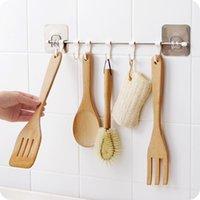 Hooks & Rails Kitchen Gabgets Cupboard 6 Hook Home Organizer Storage Rack Pantry Chest Tools Towels Hanger Wardrobe Towel Shelf