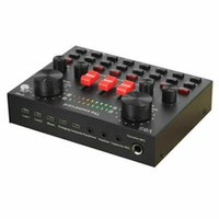 V8 Sound Card Voice Changer for Sound Effects Live Audio Mixer with Bluetooth Sound Board for Streaming