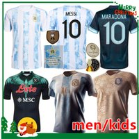 2021 2022 Argentine Messi Soccer Jerseys 21 22 Naples Napoli Home Shirt de football Retro 1978 1986 Maradona Men Jersey