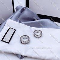 Письмо, переплетение рисунка кольцо стерлингового серебра 925 Стерлинговое серебро Старые резные грубые кружевные кольца простые и универсальные моды ювелирные изделия 5-6-7-8-9