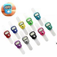 Mini El Band Tally Sayaç LCD Dijital Ekran Parmak Yüzük Elektronik Kafa Sayısı Buda Elektronik Sayaçlar 10 Renk HWA5832