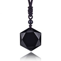 Most Popular Items Obsidian Natural Stone Pendant Necklace Competitive Price