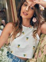 Damen Tanks Camis Shimai Mode 2021 Sommer Frauen Süße Blumen Baumwolltank Tops Vintage Sleeveless Weibliche Hemden Chic Weste