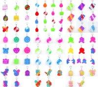 Niños Adulto Push Bubble Bubble Fidget Toy Sensory Llavero Anillo Educativo Juguete Anti-Tray Pop It Fidget Toys DiscomPresione Toy Llavero