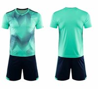 Custom Men's Soccer Jerseys Kits Adult's Football Sets DIY Name Number Logo for Team Uniforms Camisa De Futebol Player Light Green Training Uniforms