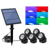 Led Solar Lamps Spotlights Landscape Lights Outdoor Spotlights Low Voltage IP65 Waterproof 16.4ft Cable Auto On Off In Stock