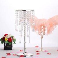 Vases 10 PCS Acrylic Road Leads Crystal Flower Rack Wedding Centerpieces Pillar Vase Table Centerpiece Decor