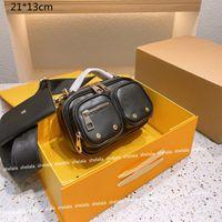 للجنسين الفاخرة فائدة كاميرا حقائب crossbody مصممين 2-piece دراجة نارية حقيبة الكتف المرأة المحافظ الأزياء الصغيرة اللوحات عالية الجودة مع الزهور المطبوعة L21070801