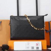 Top Quality Crossbody Bag Moda Ombro Messenger Bags L Carteira Embossing de pele de carneiro couro de couro bolsa bolsa de ouro destacável