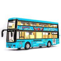 Novo som e luz 132 Metal Decker Decker Tour City Bus Pull Back Car Back
