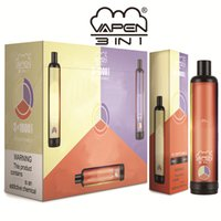 Original VAPEN 3IN1 3000Puffs e Cigarettes Kits Disposable Vape Pen 3 in 1 Vaporizer 1400mAh Battery Pre-Filled 3*3.2ml 3*1000PUFFs Airflow System Portable Cigs Vapor