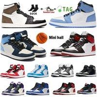 Jumpman Men 1 Баскетбольные туфли 1S Top Obsidian UNC Jumpman Low 1S Высокопроизводительные Баскетбольные Обувь Спорт Дизайнер Twist Chicago Combed Toe Thee Traker Размер 36-46