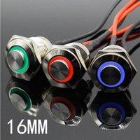 Edelstahl Metallknopfschalter Beleuchtet Ring LED 3V 5V 12V 24V 220V Momentan Push Nicht fester High Head Max 10A Smart Home CONT CONT