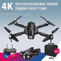 Drone 5G WiFi FPV GPS ile Geniş Açı 4 K Kamera HD Helikopter 25din Uçuş Zaman Quadcopter Katlanabilir Fırçasız VS B4W Drones