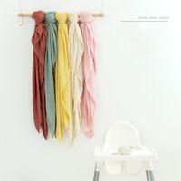 الرضع Swaddling التفاف بطانية القماش النقي اللون الخيزران القطن منشفة منشفة بطانيات الربيع والصيف الشاش عربة الشاش يغطي ins WMQ763