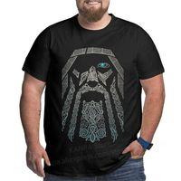 Kanpa 100 % 코 튼 바이킹 그래픽 T 셔츠 큰 키 큰 남자 대형 티셔츠 플러스 사이즈 탑 티 남성용 느슨한 큰 의류 210623