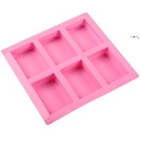 6 Grids Rectangle Silicone Moulds Cake Biscuits Baking Mould Chocolate Dessert Molds Bread Jelly Molds Kitchen Bakeware Tool HHF10330