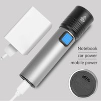 Flashlights Torches Built-in XM-L T6 USB Rechargeable Battery LED Zoomable Aluminum Torch Waterproof For Bike Camping Light Head