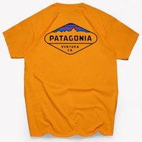 파타고니아 디자이너 티셔츠 힙합 탑스 패션 브랜드 망 여자 셔츠 여름 캐주얼 좋은 면화 티셔츠 짧은 소매 티 의류 편지 패턴