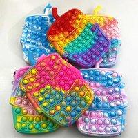 تململ حقيبة الكتف rainbow fidgets لعبة تصميم جديد crossbody محفظة للفتيات هالوين عيد الميلاد حزب الحسنات الهدايا التوحد الإجهاد المخلص