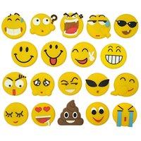 ملصق الإبداعية جميلة pvc لينة الغراء التعبير مبتسم الوجه الكرتون الثلاجة لصق QQ السبورة الزخرفية المغناطيسي