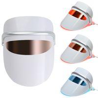 Yüksek Kaliteli Yüz Spa 7 Renkler LED IPL Işık Terapi Yüz Maskesi Akne Anti Kırışıklık Araç Tedavisi Güzellik Cihazı Cilt Bakım Araçları