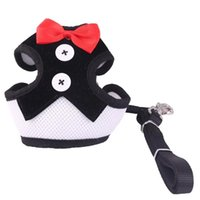 Dog Collars & Leashes Pet Cat Harness Leash Set Bow Knot Vest Adjustable Comfortable Chest Strap Outdoor Safety Traction Rope For Dogs