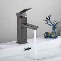 Смесители раковины ванной комнаты G1 / 2in нить из нержавеющей стали матовый черный бассейн водяной кран холодный смесительный кран