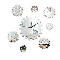 Wall Clocks Modern DIY 3D Large 1 * 1.5V Battery Gear Clock Sticker Decal Watch Decor Home Office Room High Quality