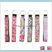 Novelty Items Home Décor & Garden Lilly Pulitzer Key Buckle Neoprene Bag Charmer Keychain Sublimation Keyring Wedding Favors Gift Mult