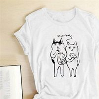 القطط المرأة القمصان الطباعة الصيف الجرافيك تيز مضحك جولة الرقبة المرأة الملابس المألوف روبا دي موهير فيرانو