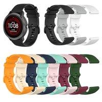 22mm 20mm 18mm Sport Silicone Wrist Strap For Garmin Vivoactive 4S 4 Venu Forerunner 245 645 Wristband Accessories