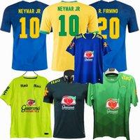 톱 2021 축구 유니폼 캐주얼 브라질 T 셔츠 축구 Richarlison Casemiro Marquinhos Arthur Fabinho 교육 셔츠 S-4XL