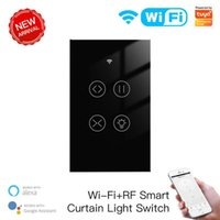 Smart Home Control Tuya Life Curtain Switch Wifi RF Glass Light Touch Switches Remote Voice Group Work With Alexa Echo Google