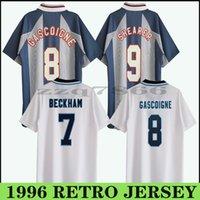 1996 Eng Land Gascoigne Southgate Retro Jerseys 82 86 98 02 08 Sharer Beckham Soccer Jersey 1989 1990 Gerrard Scholes Owen 1994 Heskey خمر كلاسيك قميص كرة القدم