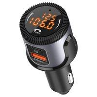 بلوتوث 5.0 FM الارسال كيت للسيارة usb c pd 18w شاحن محول راديو دعم dual عرض الرقمية BC72