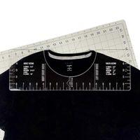 Strumento di allineamento della maglietta delle magliette delle T-shirt per l'applicazione delle camicie di sublimazione del vinile con grafico a formato incorporato - strumenti di nozioni di cucito HTV
