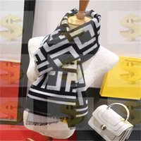 Tamaño 30-180 cm Pañol de tejer Bufandas Top Super Pure Hombre Bufanda para mujer Telas avanzadas suaves de lujo Diseño de estilo de rejilla de lujo Mantón impreso largo