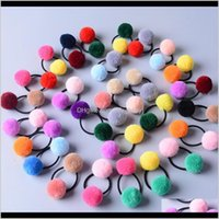 Lindas Little Girls 'Pompom Ties Double Pom Band Accesorios para el cabello QWR5J JFLJG