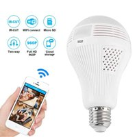 Degree LED Light Bulb Camera 960P Wireless Panoramic Home Security WiFi Fisheye Lamp Two Ways Audio IP Cameras