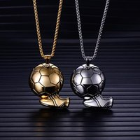 Chains Charm Football Soccer Boots Shoes Basketball Pendant Necklace Men Boy Children Gift Necklaces Sporty Style Association Jewelry