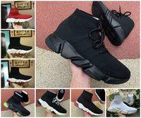2021 Diseñador Sock Sports Speed 1.0 Entrenadores Lace-Up Zapatos Casual Trainer Luxury Mujeres Hombres Corredores Zapatillas de deporte Calcetines de moda Botas Plataforma ClearSole Fluo Sneaker Shoe