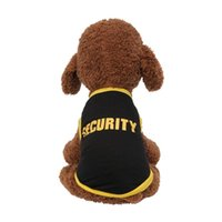 Dog Apparel 2021 Pet Spring And Summer Breathable Security Print Vest Cat Clothing Dress For Puppy
