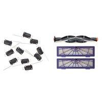 Micro-Limit Interruptor Long Highter Highter Hinge Braço SPDT SPDT SNAPE ACTIR LOTE 1Set Roll Brush + Filtros Kits para Neato Botvac Aspiradores de P30