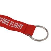 كيمتر المطرزة المنسوجة إلكتروني حلقة رئيسية الأزياء إزالة | من قبل | رحلة الطيران الأحمر Keyfobs حامل الطيران سلامة العلامة أقراط G294Q A8KGV
