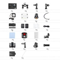 Sports & Action Video Cameras Mounting Accessories Kit G1 Ultra High Definition 4K Camera 16MP 170 Degree Wide Angle WiFi Waterproof Cam